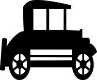 Antique Car Decal / Sticker 02