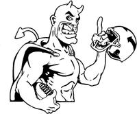Football Devils Mascot Decal / Sticker