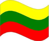 Lithuania Waving Flag Decal / Sticker 02