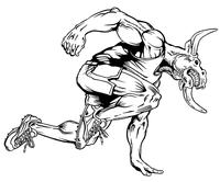 Track Bull Mascot Decal / Sticker 1