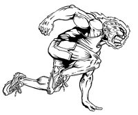Track Comets Mascot Decal / Sticker 1