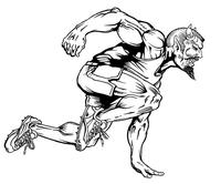 Track Devils Mascot Decal / Sticker 1