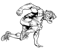 Track and Field Leopards Mascot Decal / Sticker 1