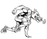 Track and Field Razorbacks Mascots Decal / Sticker 1