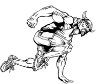 Track and Field Vikings Mascot Decal / Sticker 1