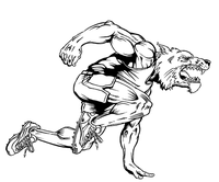 Track and Field Wolves Mascot Decal / Sticker 1