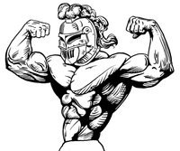 Weightlifting Knights Mascot Decal / Sticker 3