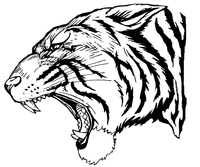 Tigers Mascot Decal / Sticker 3