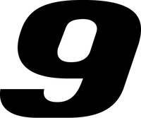 9 Race Number Decal / Sticker k