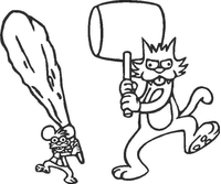 Itchy and Scratchy Decal / Sticker