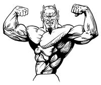 Weightlifting Devils Mascot Decal / Sticker 3