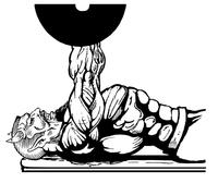 Weightlifting Devils Mascot Decal / Sticker 6