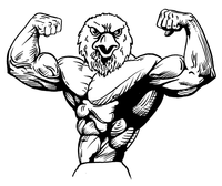 Weightlifting Eagles Mascot Decal / Sticker 3