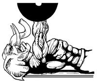 Weightlifting Elephants Mascot Decal / Sticker 6