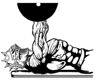 Weightlifting Knights Mascot Decal / Sticker 6