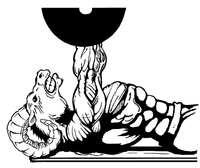 Weightlifting Rams Mascot Decal / Sticker 3