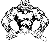 Baseball Tigers Mascot Decal / Sticker 6