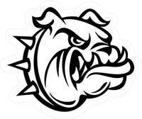 Bulldog Mascot Decal / Sticker 18