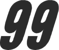 99 Race Number Solid Decal / Sticker