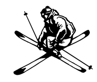 Snow Skiing Decal / Sticker