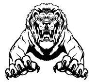 CUSTOM LIONS MASCOT DECALS AND LION MASCOT STICKERS