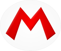Mario M Oval Decal / Sticker 06