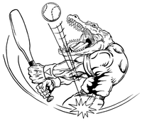 Baseball Gators Mascot Decal / Sticker 3