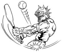 Baseball Knights Mascot Decal / Sticker 3
