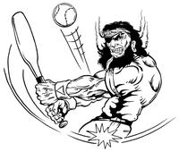 Baseball Pirates Mascot Decal / Sticker 1
