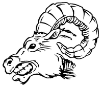 Rams Mascot Decal / Sticker 2