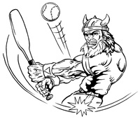 Baseball Vikings Mascot Decal / Sticker 1