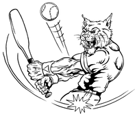 Baseball Wildcats Mascot Decal / Sticker 1