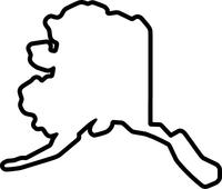 Alaska State Oultine Decal / Sticker 04