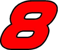 8 Race Number AF Pespi Font 2 Color Decal / Sticker