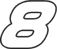 8 Race Number AF Pespi Font Decal / Sticker