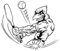 Baseball Cardinals Mascot Decal / Sticker 3