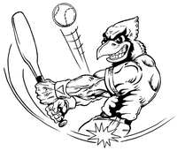 Baseball Cardinals Mascot Decal / Sticker 3