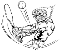 Baseball Comets Mascot Decal / Sticker 04