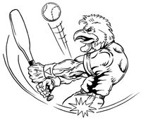Baseball Gamecocks Mascot Decal / Sticker 4
