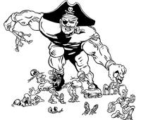 Football Pirates Mascot Decal / Sticker 4