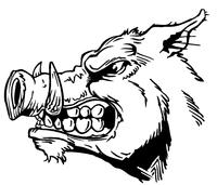 Razorbacks Mascots Decal / Sticker 5