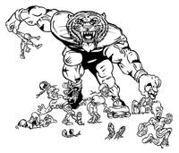 Football Tigers Mascot Decal / Sticker 4