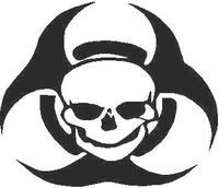 Biohazard Skull Decal / Sticker
