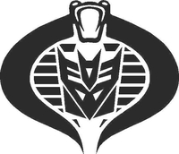 Decepticon Cobra Commander Decal / Sticker