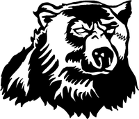 Bear Head Mascot Decal / Sticker