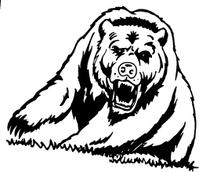 Growling Bear Mascot Decal / Sticker