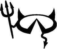 Infiniti Devil Decal / Sticker