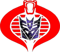 Cobra Commander Decepticon Purple Barbed Wire Decal / Sticker