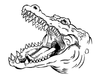 CUSTOM GATORS MASCOT DECALS AND GATORS MASCOT STICKERS