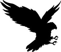 Hawks / Falcons Full Mascot Decal / Sticker 101